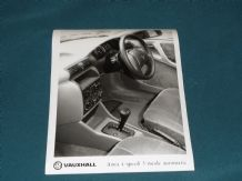 "VAUXHALL ASTRA 4 Speed 3 Mode Auto (interior) factory issued 8x6"" press photo"
